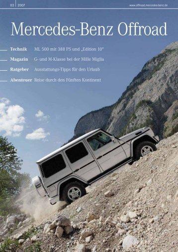 Magazin - Mercedes-Benz Offroad