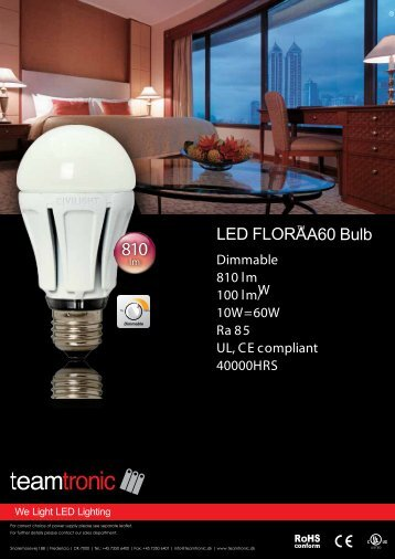 LED Dimmable GU10 Spotlight - Teamtronic