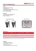 LED Dimmable GU10 Spotlight - Teamtronic - Page 2