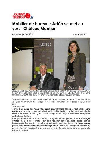 Mobilier de bureau : Arféo se met au vert - Château ... - Arféo Buroform