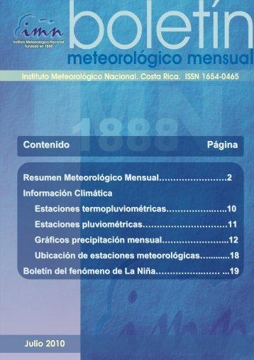 Contenido Página - Instituto Meteorológico Nacional