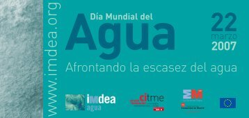 Día Mundial del Agua - 22 marzo 2207 - Madri+d