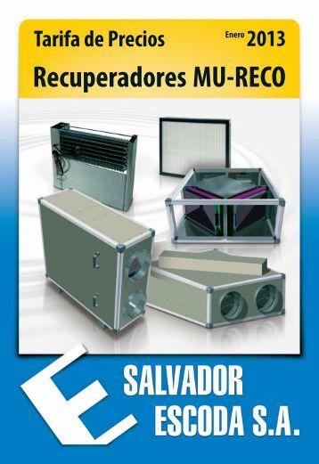 Recuperadores de Calor Mundoclima MU-RECO - Salvador Escoda ...