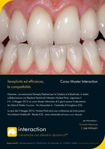 Corso Master Interaction Semplicità ed efficienza, la compatibilità.