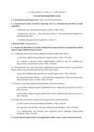 A szak képzési és kimeneti követelményei - PTE Felnőttképzési és ...