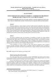 popis možností dynamických modelů a doporučení pro řešení ...