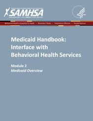Medicaid Handbook: Interface with Behavioral Health Services