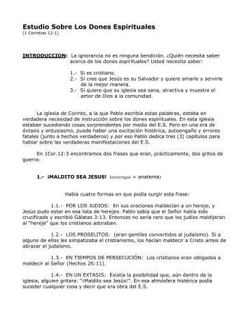 ESTUDIO SOBRE LOS DONES ESPIRITUALES - Muros de ...