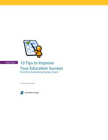10 Tips to Improve Your Education Surveys