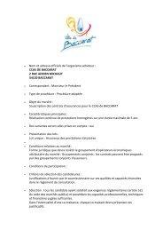 Assurance pour le Centre Communal d'Action Sociale. - Baccarat