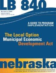 LB840 Guide - Nebraska Department of Economic Development