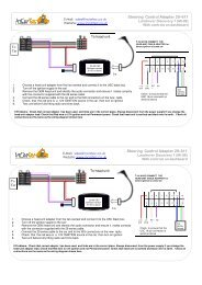29-611 Landrover Discovery 1 stalk control - www.incartec.co.u