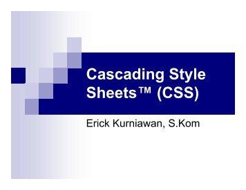 materi 8 (CSS Cascading Style Sheet)