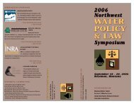 water policy & law - Montana Water Center - Montana State University