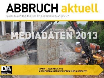 Mediadaten 2013 - Deutscher Abbruchverband