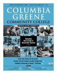 Spring 2013 News & Class Schedule - Columbia-Greene ...