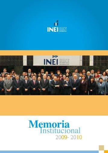Memoria Institucional 2009-2010 - INTRANET INSTITUCIONAL - Inei