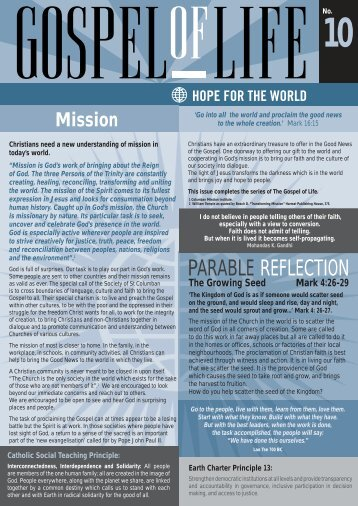 PARABLE REFLECTION - St Columbans Mission Society