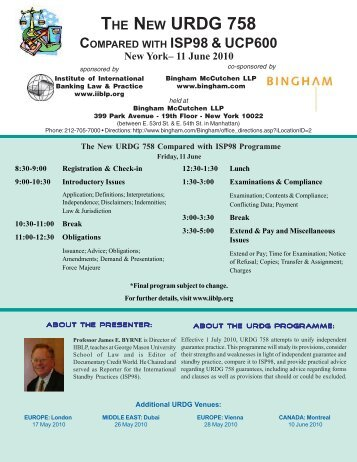 2002 Law Summit Flyer - The Institute of International Banking Law ...