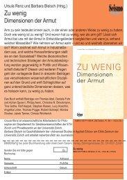 flyer armut.indd - Zentrum Geschichte des Wissens - ETH Zürich