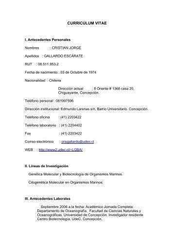 Download CV Cristian Gallardo-Escárate (pdf) - Departamento de ...