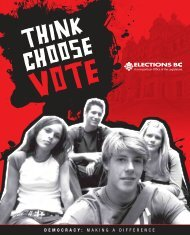 Think Choose VOTE - Democracy: Making a Difference - Elections BC