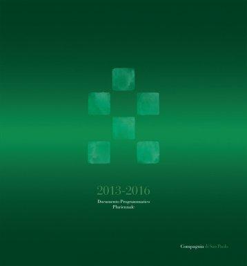 Documento Programmatico Pluriennale 2013-2016 - Compagnia di ...