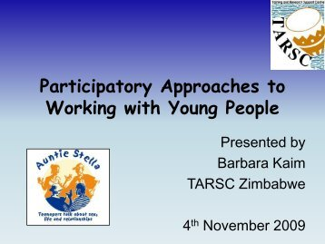 Participatory Approaches to Working with Young People - B