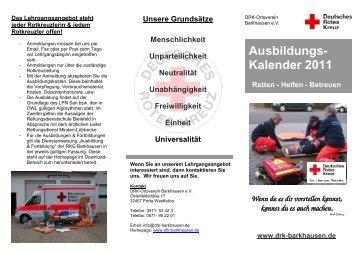 DRK-Flyer Ausbildung 2011