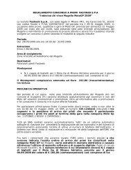 """REGOLAMENTO CONCORSO A PREMI FASTWEB S.P.A """"Indovina ..."""