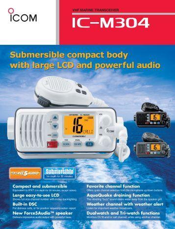 Icom ic m304 Manual