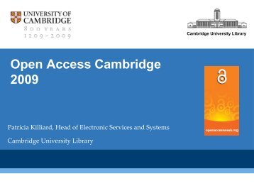 Presentation - Cambridge University Library