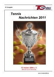 Tennis Nachrichten 2011 - TC Halden 2000