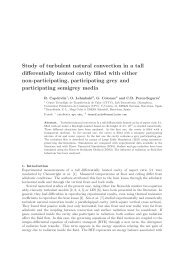 Study of turbulent natural convection in a tall differentially heated ...