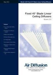 Linear Ceiling Diffusers - Air Diffusion