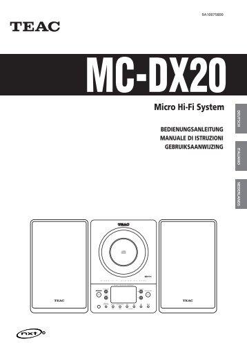 Micro Hi-Fi System - TEAC Europe GmbH