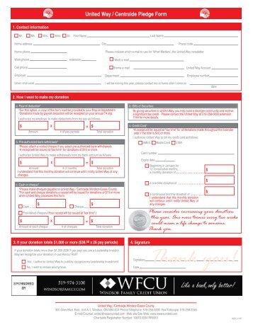 United Way Regina Sno-Pitch Pledge Form DONOR INFORMATION