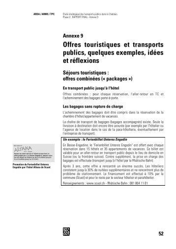Offres touristiques et transports publics, quelques ... - Région Chablais