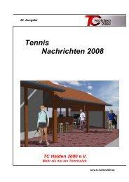 Tennis Nachrichten 2008 - TC Halden 2000