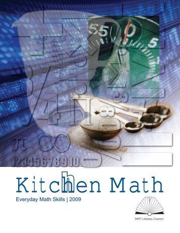 Everyday Math Skills Workbooks series - Kitchen Math