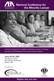 ABA presents National Conference for the Minority Attorney June 28 ...