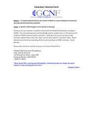 Volunteer Interest Form - Global Child Nutrition Foundation