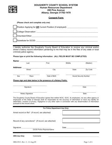 Alberta/Saskatchewan Criminal Background Check Form
