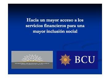 bancarizacion - Banco Central del Uruguay