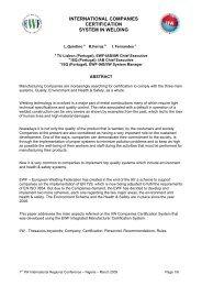 international companies certification system in welding - EWF