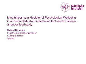 Mindfulness as a Mediator of Psychological Wellbeing in a Stress ...