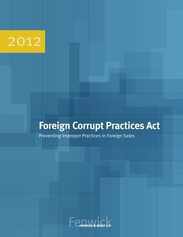 Foreign Corrupt Practices Act - Chubb Group of Insurance Companies