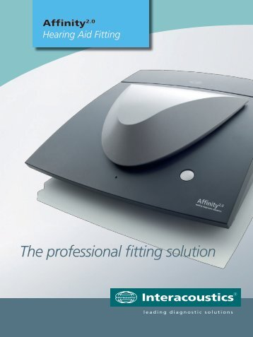 The professional fitting solution - Sonorom