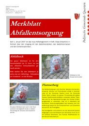 Merkblatt Quarten - Gemeinde Quarten