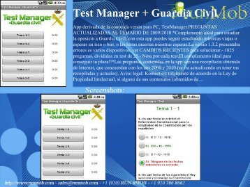 Test Manager + Guardia Civil - RunMob
